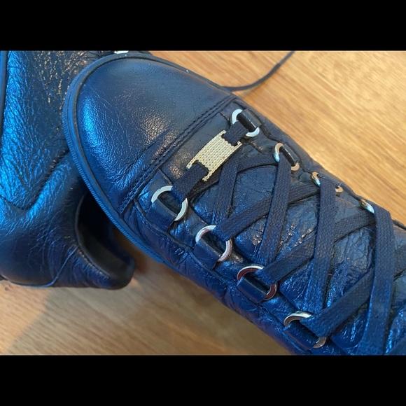 Balenciaga Arena Low Sneaker 38 In Navy